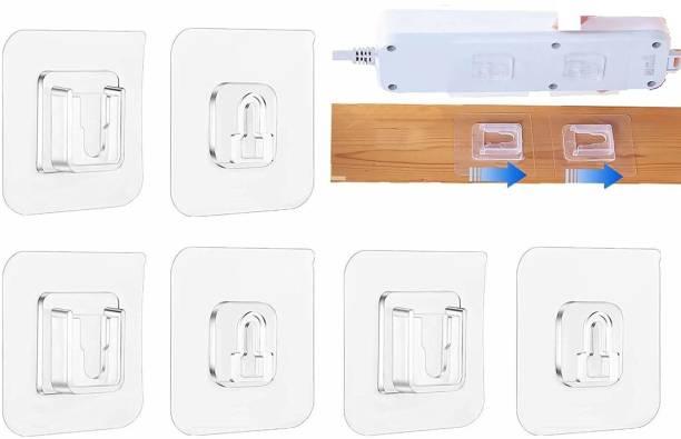 JIALTO Double-Sided Adhesive Wall Hooks,10kg(Max) Heavy Duty Bathroom Towel Kitchen Sticky Hooks, Multi-Purpose Transparent Adhesive Hooks, Waterproof and Oil-Proof (8 Packs) Hook