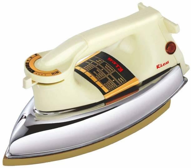 Rico AI 13 Plancha Dry Iron 1000 Watts Premium Heavy Weight Iron (3 Year Warranty) 1000 W Dry Iron