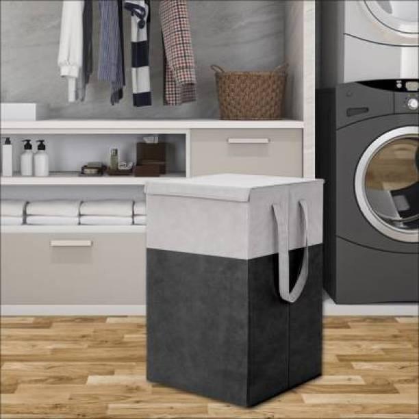whitekrafts 75 L Black, Grey Laundry Basket
