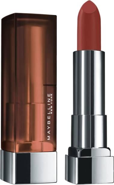 MAYBELLINE NEW YORK Color Sensational Creamy Matte Lipstick, 676 East Village Rose, 3.9g