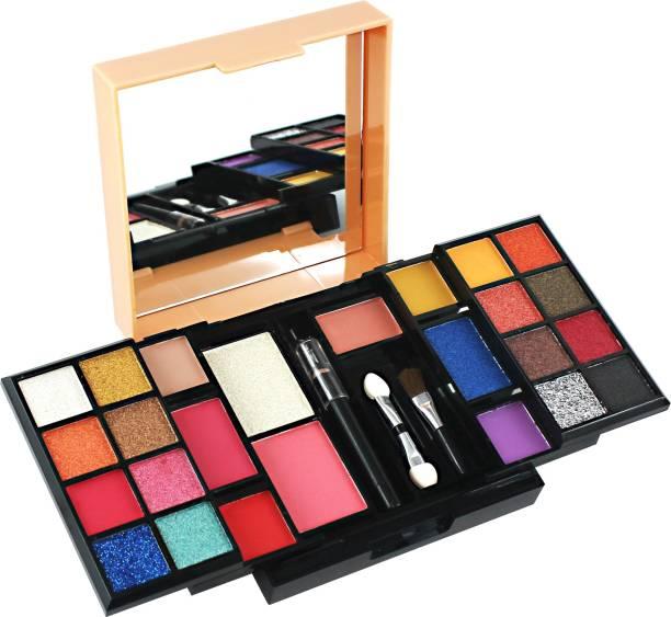 MARS 22 Eyeshadow+2 Blusher+ 1 Highlighter+ 1 Eye Liner+ 2 Brushes Be You Makeup Kit