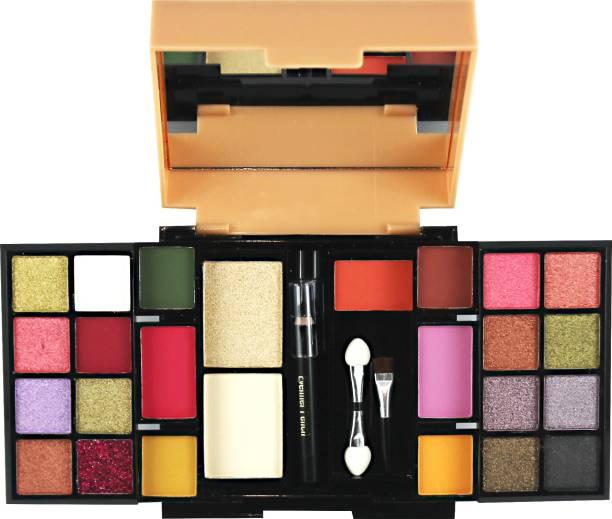 MARS Be You 22 Eyeshadow+2 Blusher+ 1 Highlighter+ 1 Eye Liner+ 2 Brushes Makeup Kit