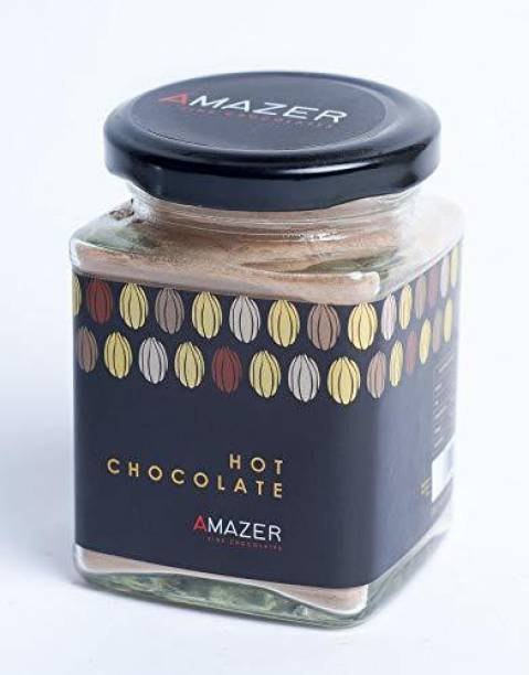 Amazer Hot Chocolate Mixes 150 GMS Hot Chocolate, Classis Hot Chocolate Powder, Pure, Nice & Delicious Taste, Dark, and Homemade Fudges