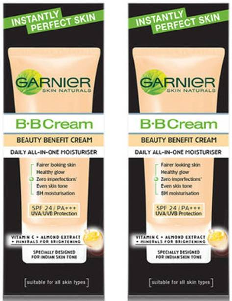 GARNIER B.B Cream Beauty Benefit cream Daily All-In- One Moisturiser SPF 24 / PA+++/UVA/UVB Protection 2X30 g