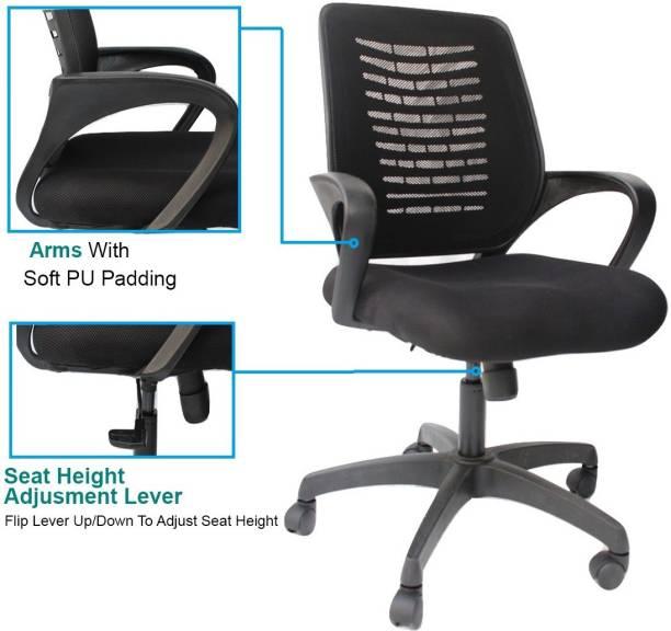 Alibaba chair ... world of quality medium back Nylon, Mesh, Fabric Study Arm Chair