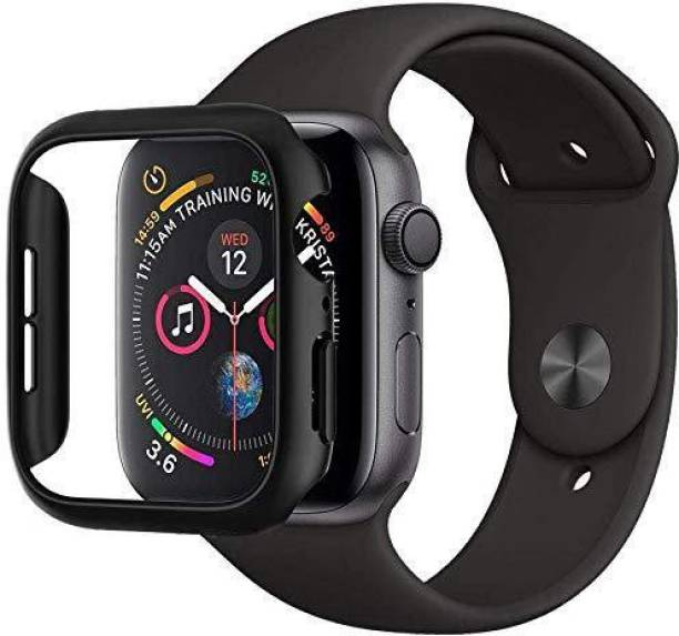 CallSmith Edge To Edge Tempered Glass for 42mm Case Of Apple Watch Series 3, Series4 , Series5, Matte Finish 360° Bumper Cover with Tempered Glass