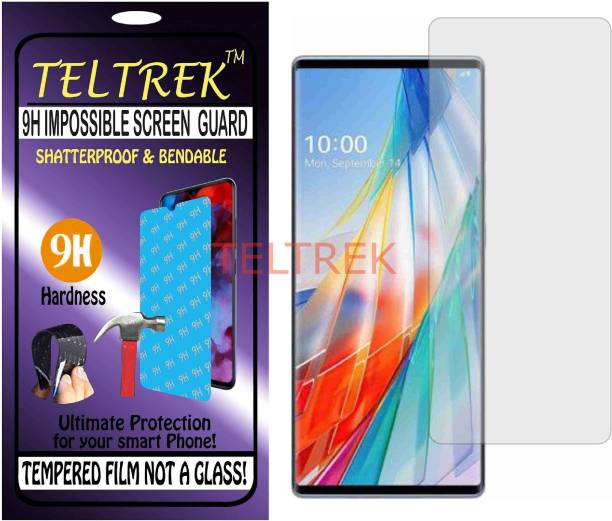 TELTREK Tempered Glass Guard for LG WING (Flexible, Unbreakable)