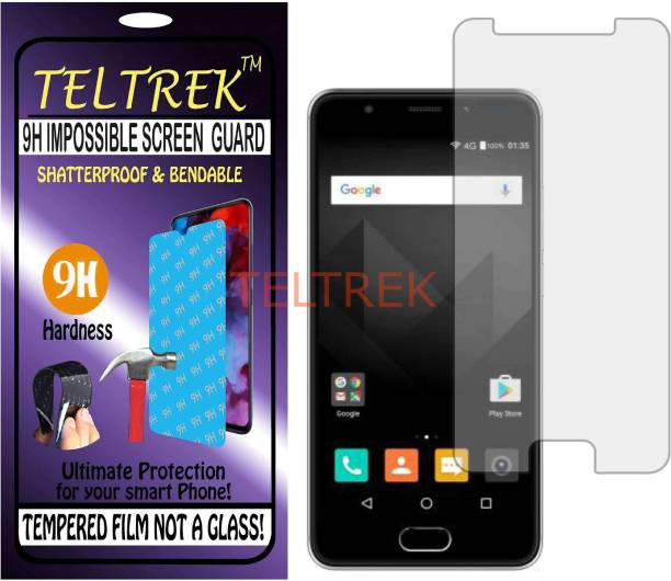 TELTREK Tempered Glass Guard for MICROMAX YU5040 (YUREKA BLACK) (Flexible, Unbreakable)