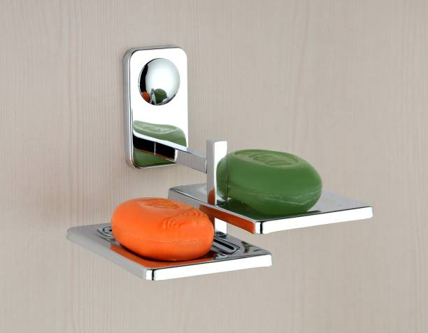 SKYHEART Square Shape Double Soap Dish,Soap Stand,Soap case,Soap Holder Stand