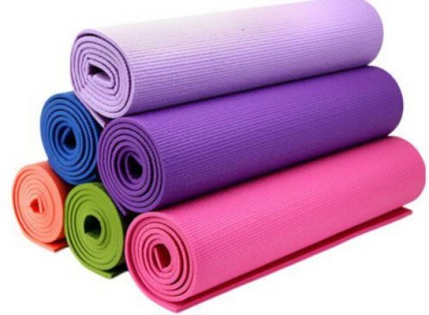 HARIBAS Eco-Friendly Anti-Slip 6MM Yoga mat for Gym Workout and Exercise | For Men & Women Multicolor 6 mm Yoga Mat