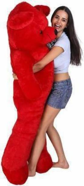 TEEDY WEDDY 4 feet teddy Bear American RED Teddy for valentine & Anniversary / birthday Very Cute Looking Soft Huggable American Style Teddy Bear Best For Gift 48 Inch - 122 Cm (RED)  - 122 cm