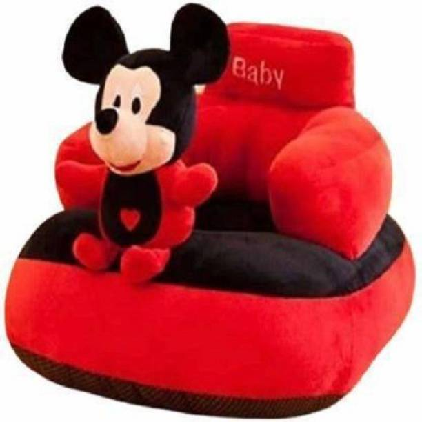 emutz Mickey Shape Soft Plush Cushion Baby Sofa Seat or Rocking Chair for Kids - 45 cm Color Red, Black)  - 91 cm