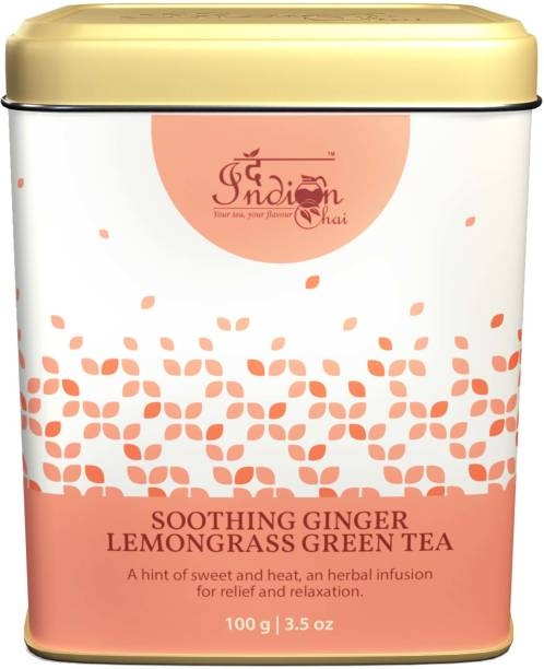 The Indian Chai Sooting Weight Loos Lemon Ginger Green Tea Lemon, Ginger Green Tea Vacuum Pack