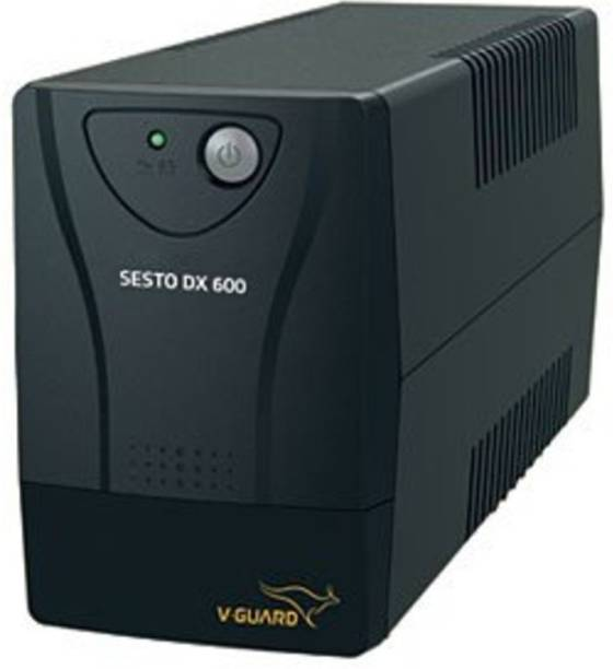 V-Guard SESTO DX 600 FOR DESKTOP UPS ( UPS & BATTERY 2 YEARS V-GUARD ONSITE WARRANTY) SESTO DX 600 UPS