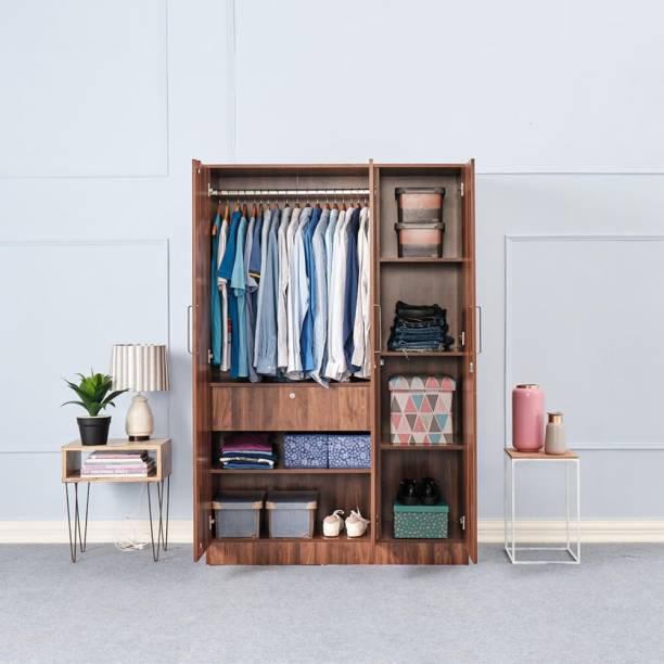 Wakefit Tartan Engineered Wood 3 Door Wardrobe
