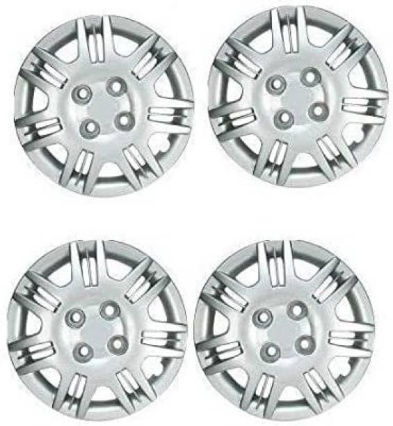 THEGARAGE Wheel Cap Silver Colour Compatible Hyundai Santro Xing (Set of 4 Pcs.) Wheel Cover For Hyundai Santro