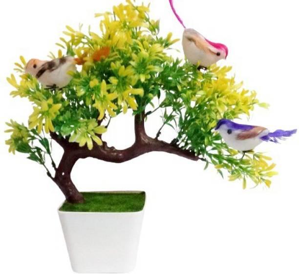 KAYKON Bonsai Wild Artificial Plant with Pot - 10 inch/25 cm Bonsai Wild Artificial Plant  with Pot