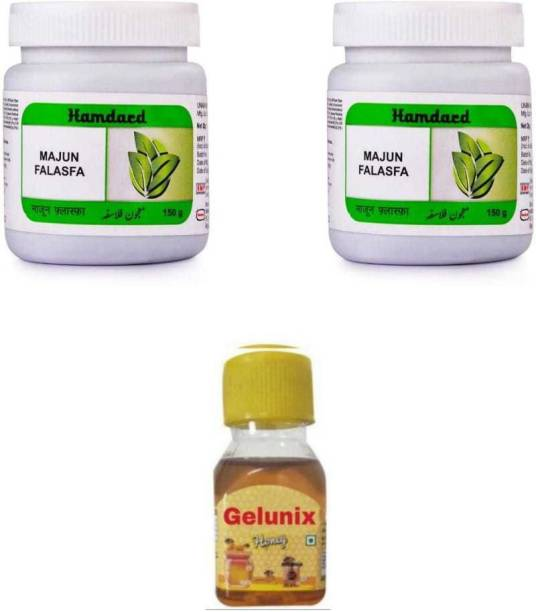 gelunix HONEY AND HAMDARD MAJUN FALASFA Combo