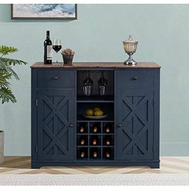 Global Craft Home Decor Sheesham Solid Wood Stylish Bar Cabinet with Storage for Living Room   Finish Solid Wood Bar Cabinet