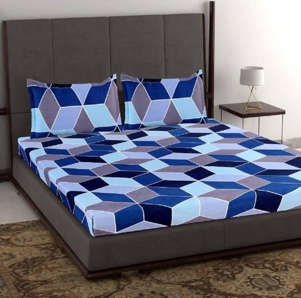 H18 SHEET 256 TC Microfiber Double Geometric Bedsheet