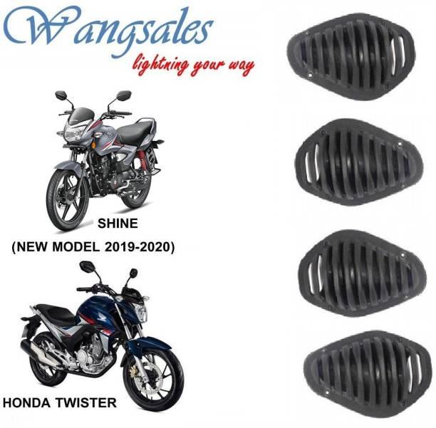 Wangsales Black CBf Twister & Shine Indicator Grill Cover 2019-2020 Bike Headlight Grill