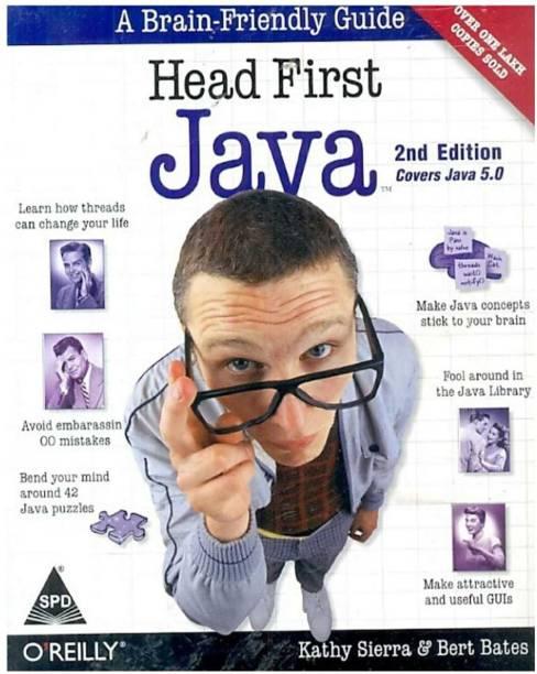 Head First Java: A Brain-Friendly Guide (Covers Java 5.0) 2nd Edition (English, Kathy Sierra)