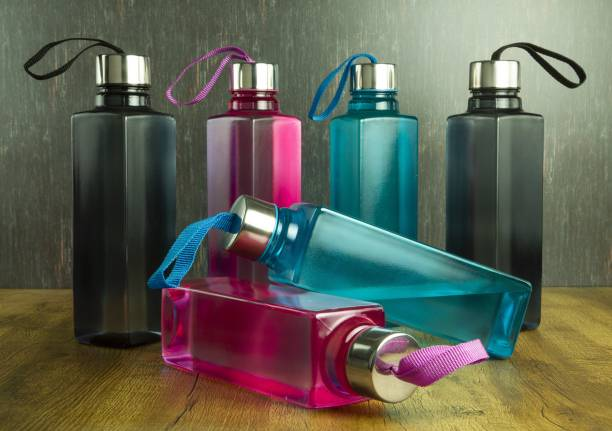 Atmaneem SQUARE SHAPE 6 set Premium Water Fridge Bottles Set Of 6 1000 ml Bottle 1000 ml Bottle