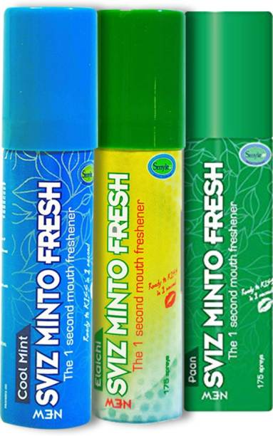 Smyle Minto Mouthfreshner Spray 15 gm- Pack of 3's (Cool Mint,Paan,Elaichi) Spray