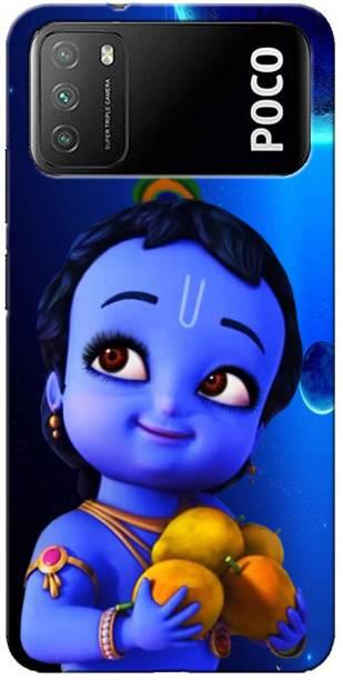 Clapcart Back Cover for Poco M3 ( Bal Krishna Design)