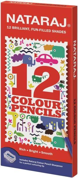NATARAJ 12 F/s Colour Pencils Hexagonal Shaped Color Pencils