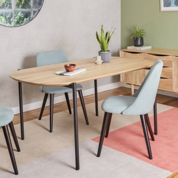 treenart Solid Wood 6 Seater Dining Table