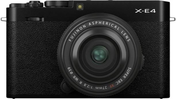 FUJIFILM X Series X-E4 Mirrorless Camera Body with XF 27 mm F2.8 R WR Prime Lens