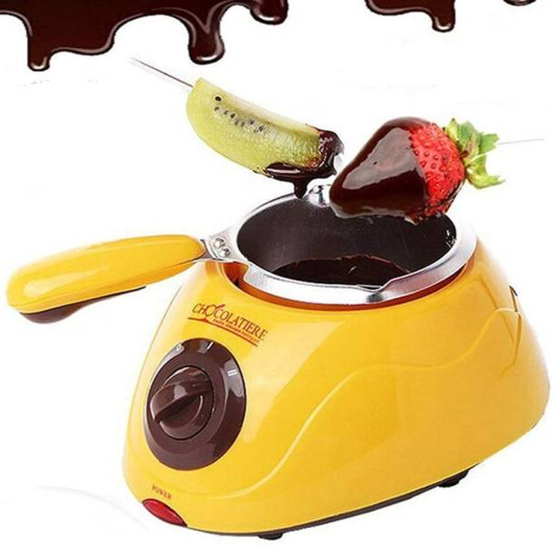 sweetboy Portable Electric Chocolate Melting Pot with Chocolate Making Kit for Kitchen Round Electric Pan