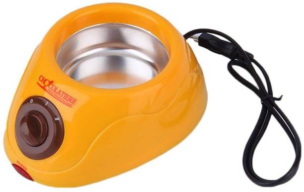 sweetboy Chocolate Fountain Fondue Melt Pot, Household DIY Dessert Machine Round Electric Pan