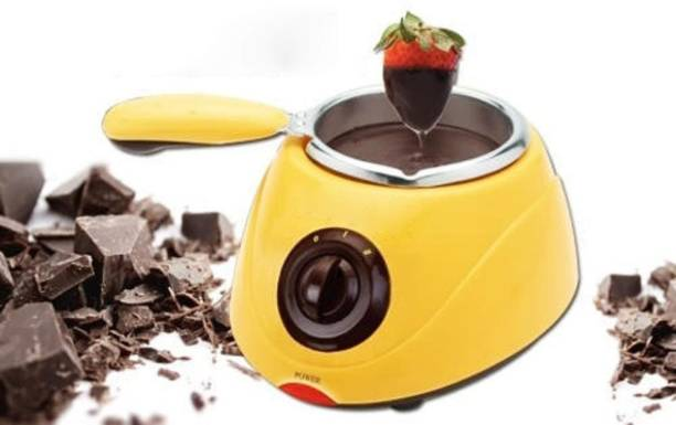 sweetboy Electric Machine Fountain Fondue Melt Pot, Household DIY Dessert Electric Machine Round Electric Pan