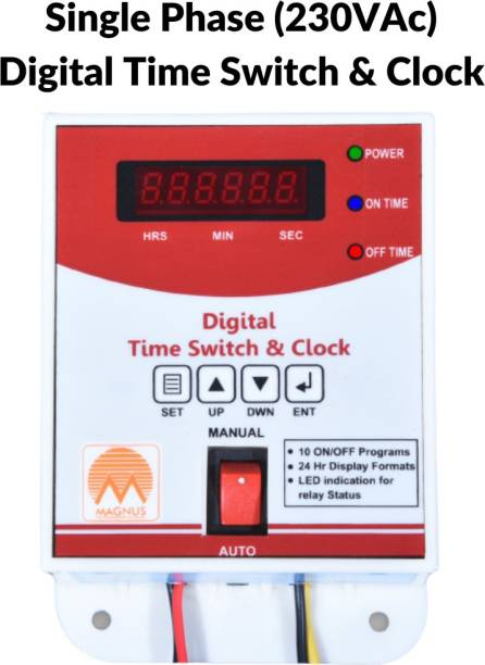 Magnus M-1120 Digital Time Switch & Clock / Street Light Timer Programmable Electronic Timer Switch