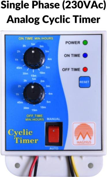 Magnus M-1121 Analog Cyclic Timer/Hydrophonics Timer Programmable Electronic Timer Switch