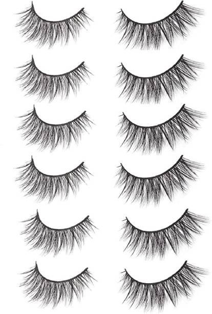 AVEU Natural Beauty Makeup Long False Eyelashes (Black) 7 Pairs