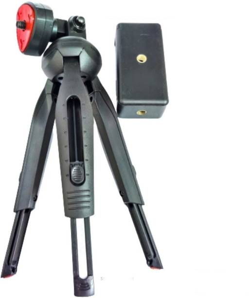 Blue Birds New Arrival Good Quality Mini Tripod with Universal Mobile Attachment Extendable Upto 28cm Lightweight Portable Multi-functional Use for Vlog,Video Shooting,Photography etc Compatible with All Mobile Phones, Action & DSLR Camera's Tripod, Tripod Bracket Mobile Holder Stand with Free Viewing Angle 360 Degree Rotation Mount Stand Single Gimbal