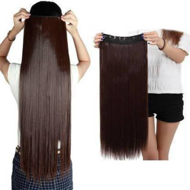 Blushia Soft Synthetic Brown Clip In Hair Extension