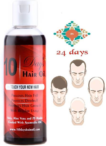 24 DAYS 10 days ayurvedic, herbal and 73 herbs hair oil 100 ml Hair Oil