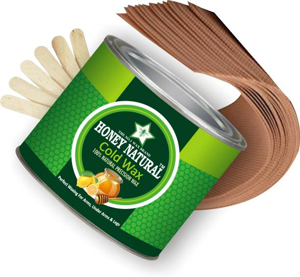 Honey Natural BEST HAIR REMOVAL COLD WAX 600G (STRIPS AND STICKS) Wax