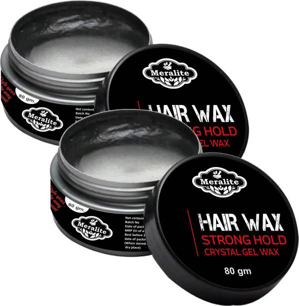 Meralite Hair Wax - Strong Hold Crystal- 80gm x Pack of 2 Hair Wax