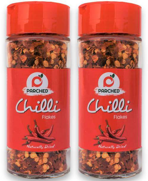 Parched Chilli Flakes   80 GM  Pack of 2   100% natural