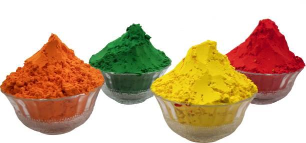 Miss & Chief Raotasav Holi Colour Fruit Herbal Gulal 200 GMS 5 Shades  NonToxic   Eco Friendly   100% Safe Holi Color Powder Holi Color Powder Pack of 4