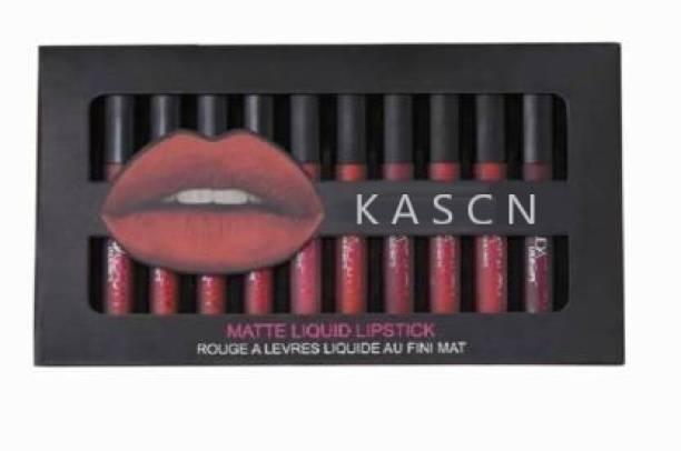 KASCN Set of 12 Liquid Matte Lipsticks Set