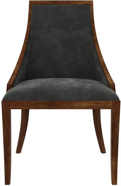 UrbanWood Shore Arm Chair ( Cotton, Navy Blue ) Solid Wood Living Room Chair