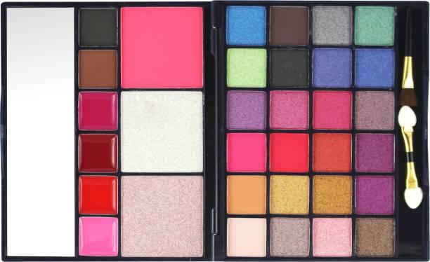 MARS 24 Eyeshadow+ 1 Highlighter+ 1 Compact+ 1Blusher+ 4 Lip Color+ 2 Eyebrow Powder Makeup Kit