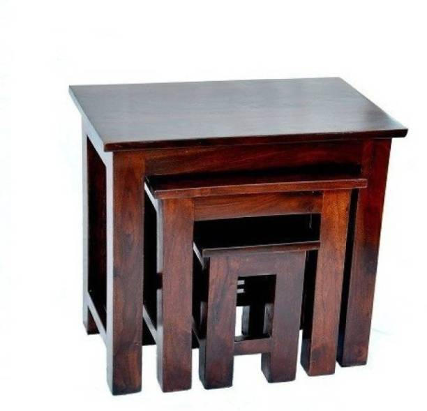 VAS Collection Home Sheesham Wood Solid Wood Nesting Table