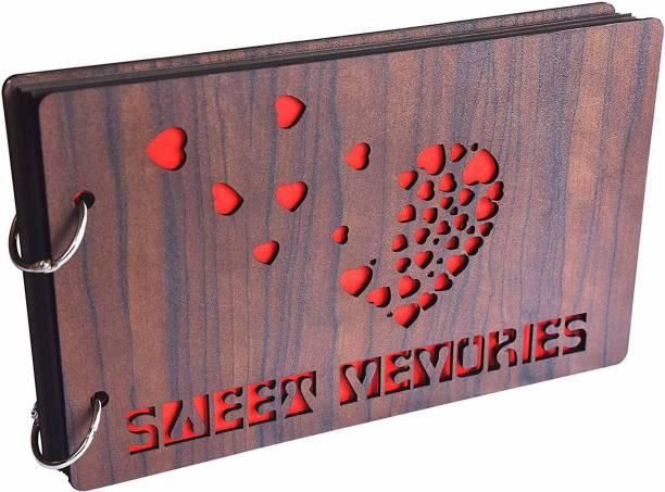 K K CREATIONS Wooden Sweet Memories Scrapbook Album